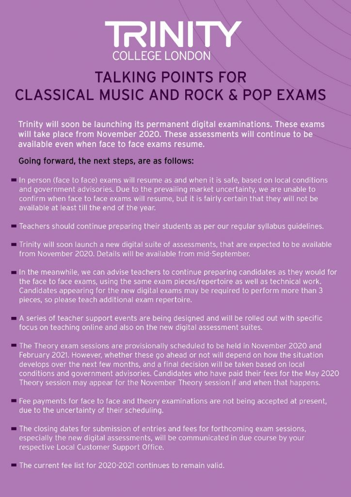 Talking Points for Classical Music and Rock & Pop Exams